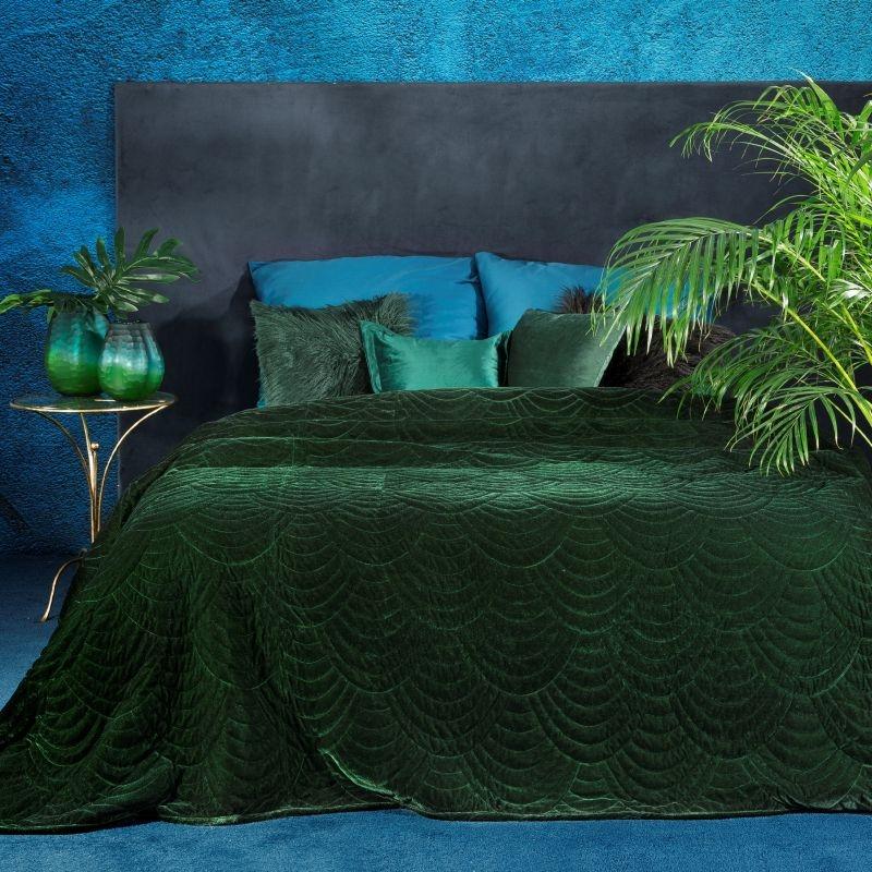 Cuvertura Eden Eva Minge Velvet Verde, 170 x 210 cm