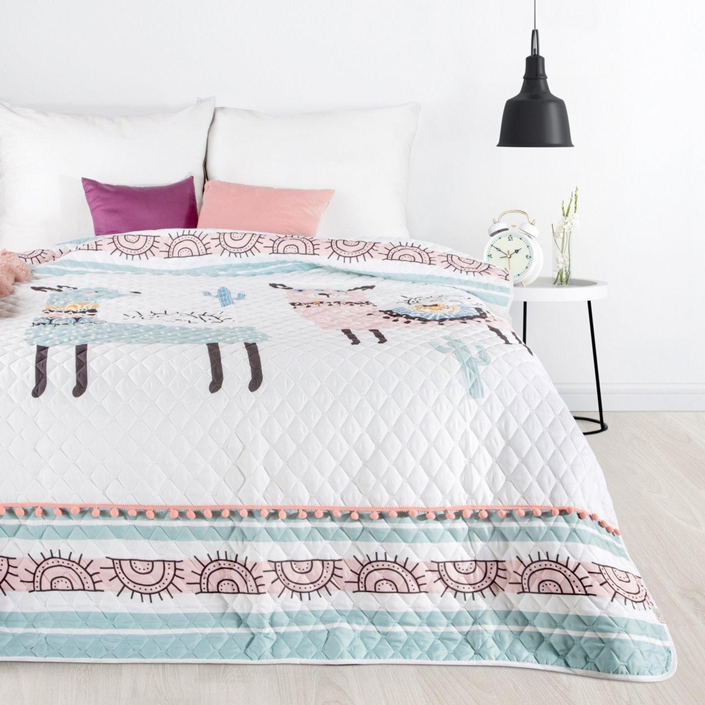 Cuvertura pat copii Daga Multicolor, 170 x 210 cm