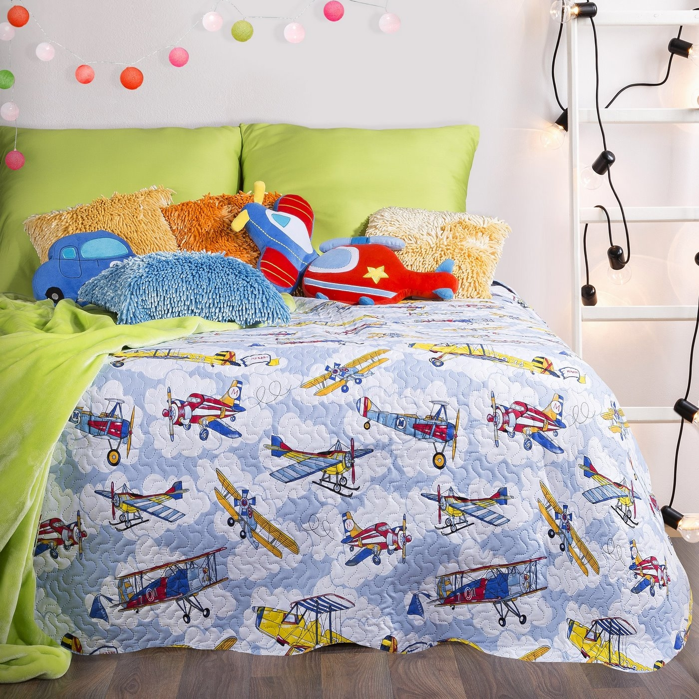 Cuvertura pat copii Eddy Multicolour, 170 x 210 cm