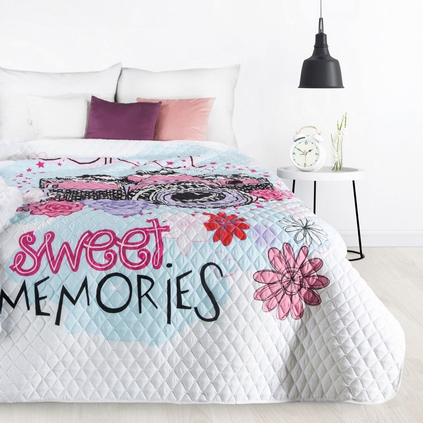 Cuvertura pat copii Sweet Multicolor, 170 x 210 cm imagine