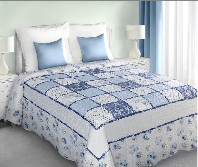 Cuvertura reversibila Adria White / Blue