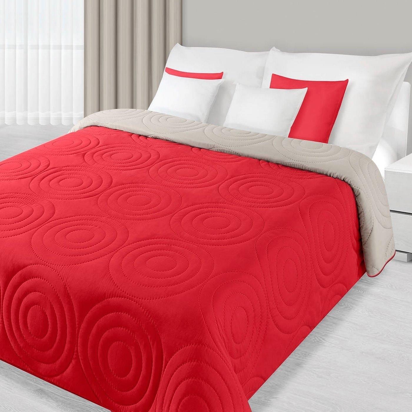 Cuvertura reversibila Alisa Red / Beige 220 x 240 cm
