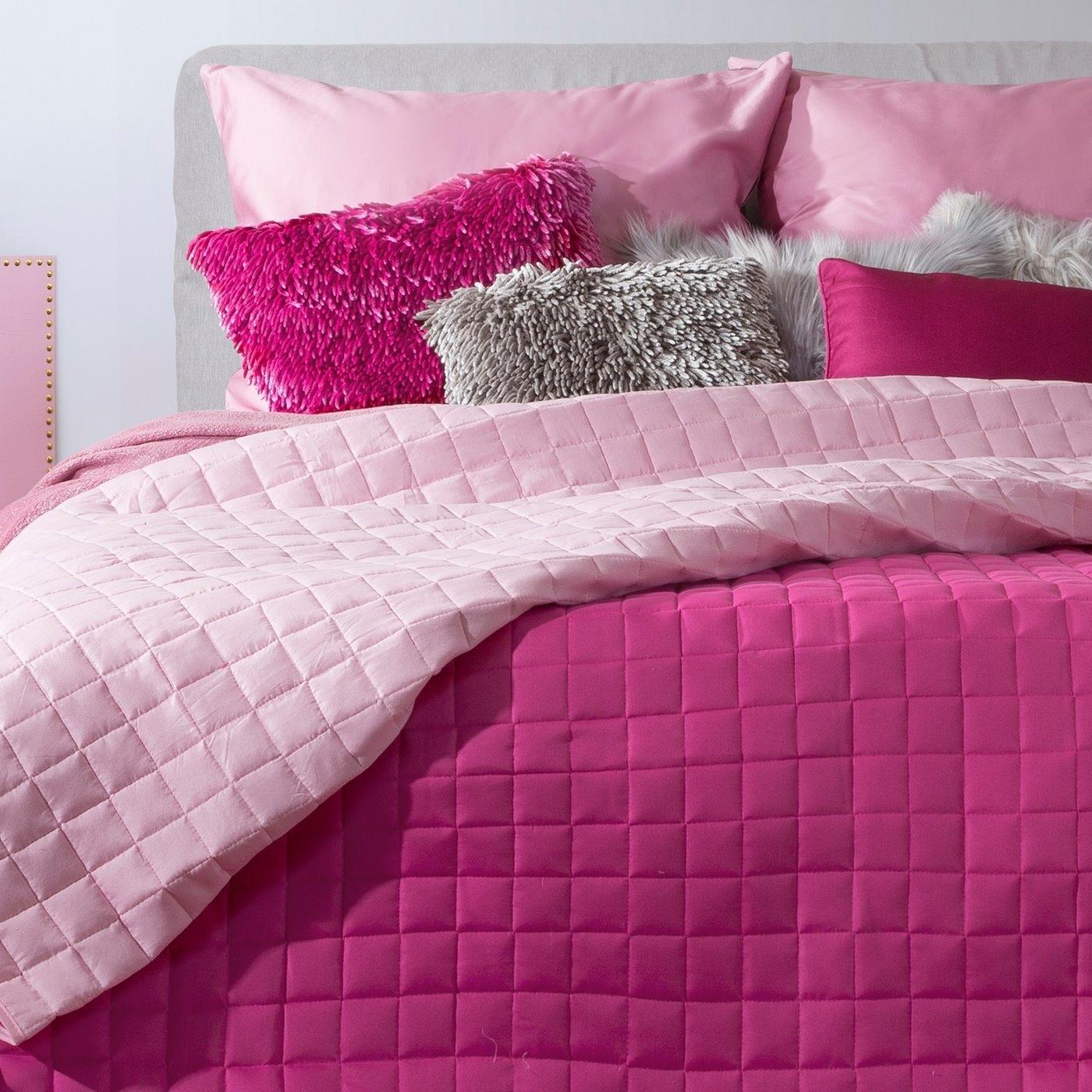 Cuvertura reversibila Eva Fuchsia / Light Pink, 220 x 240 cm