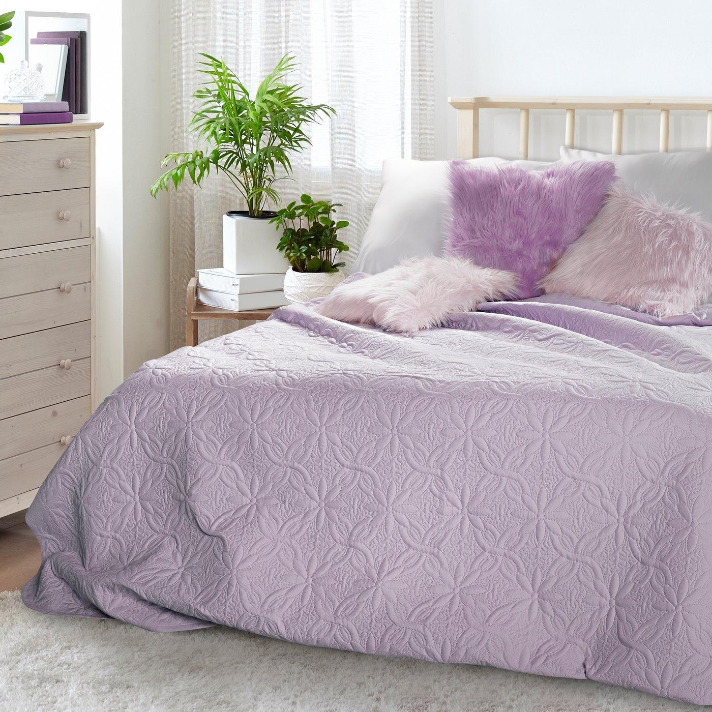 Cuvertura reversibila Floral Purple 220 x 240 cm