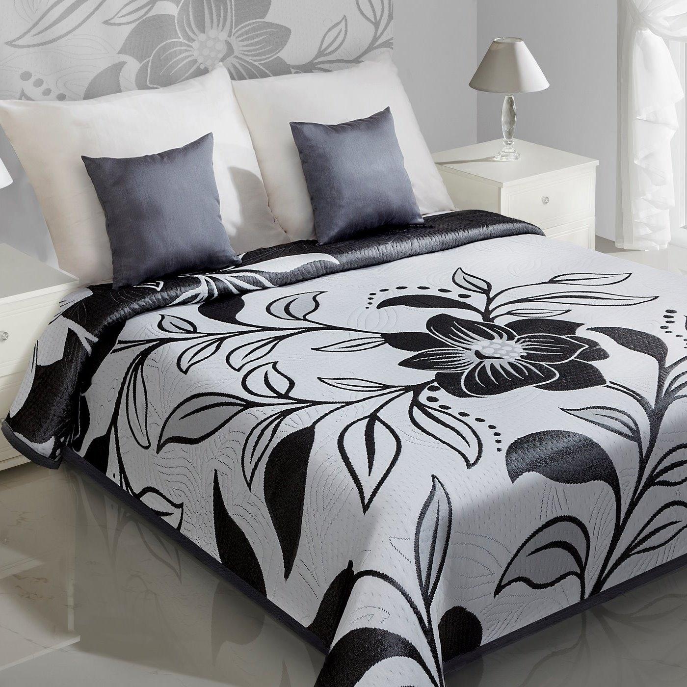 Cuvertura reversibila Lovetta Grey / Black 170 x 210 cm