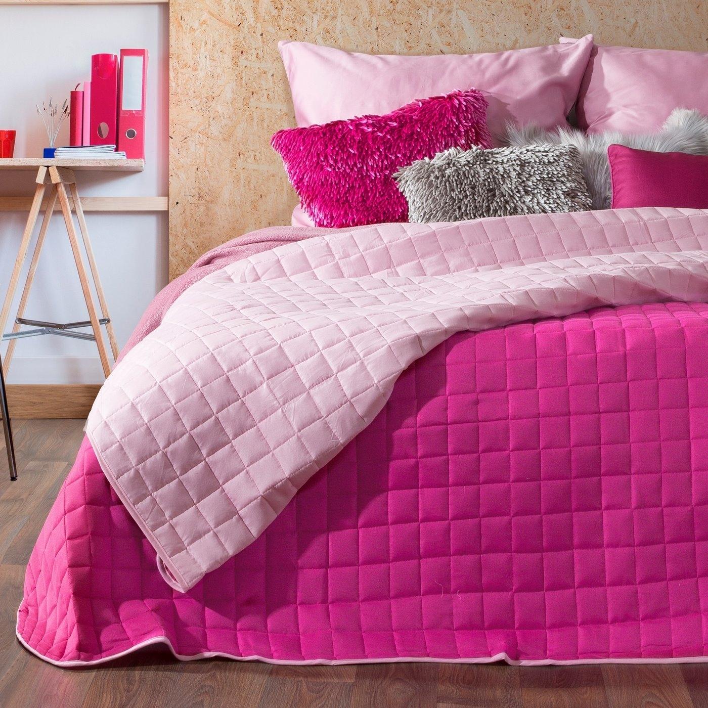 Cuvertura reversibila Paula Fuchsia / Light Pink, 220 x 240 cm