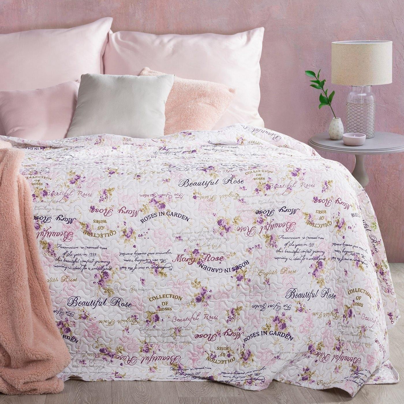 Cuvertura reversibila Rosita Cream / Pink 220 x 240 cm