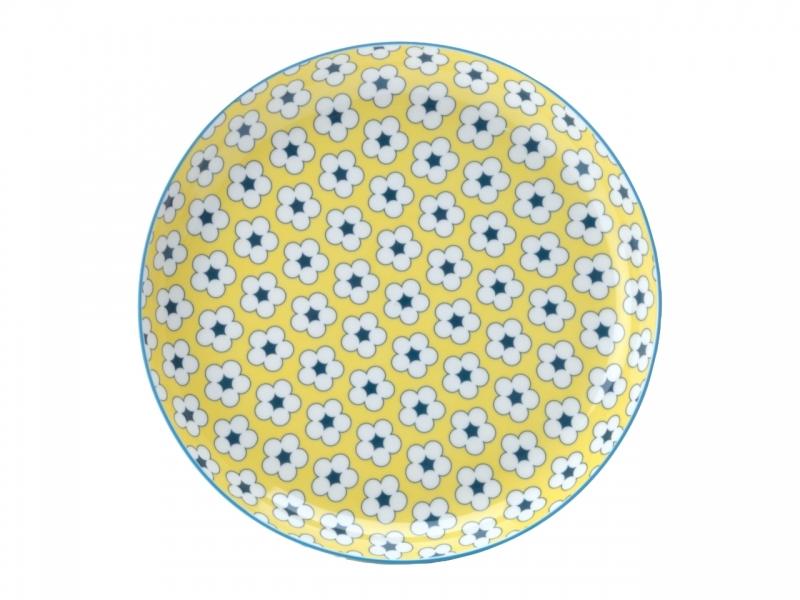 Farfurie aperitiv Yellow, Cotton Bud, 23 cm