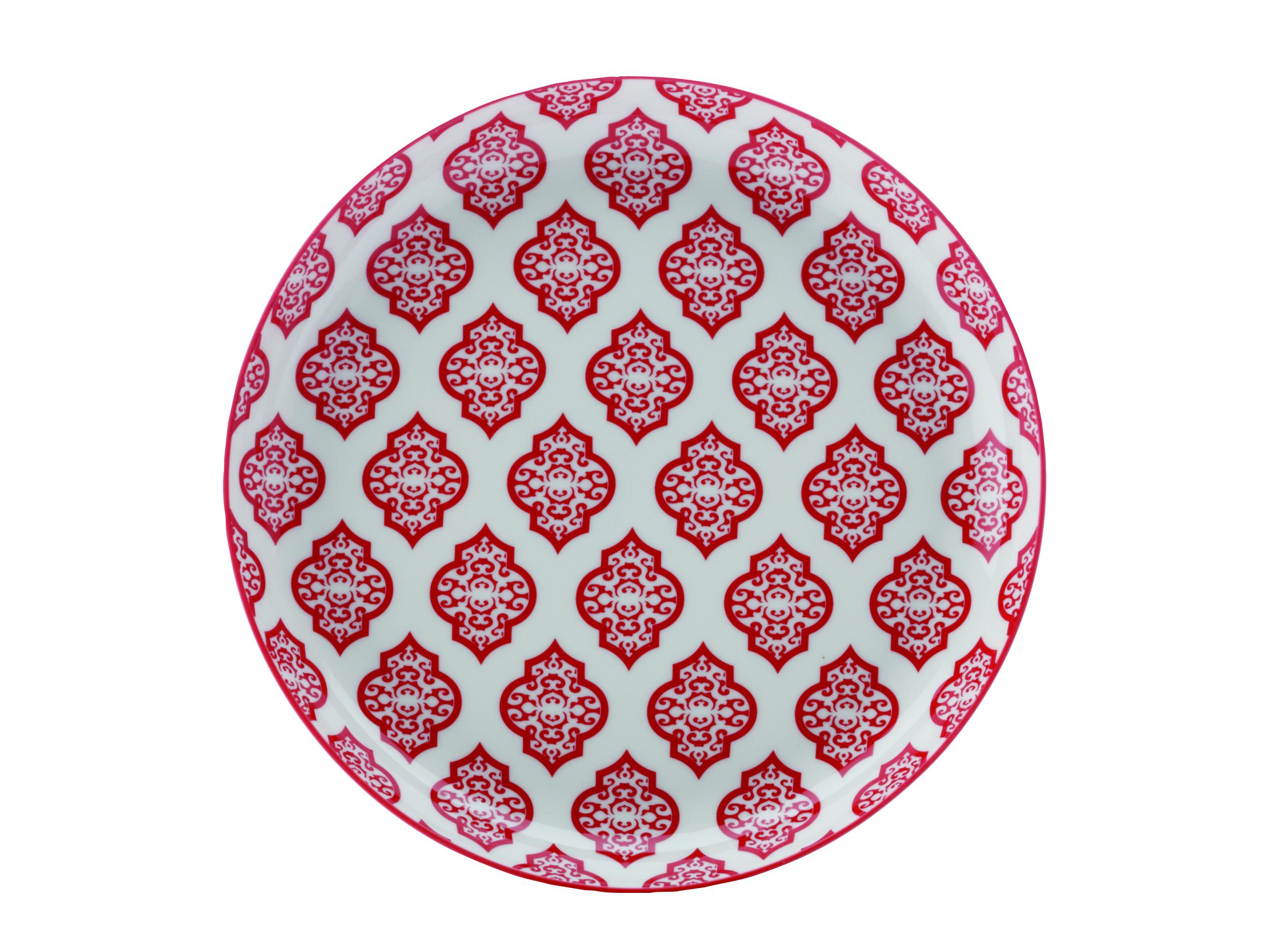 Set 4 Farfurii Red Circ  Alcazar  23 Cm