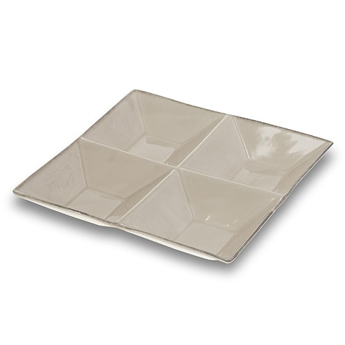 Platou ceramic Vintage cu 4 compartimente