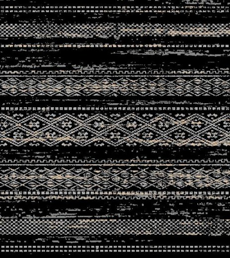 Covor Sahara 0013 CD01 Black, Tesut mecanic