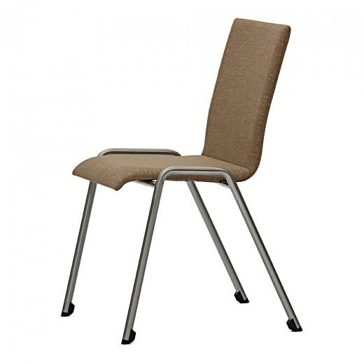 Scaun tapitat,  cu picioare metalice Foxy Siete C, l45xA57xH83 cm