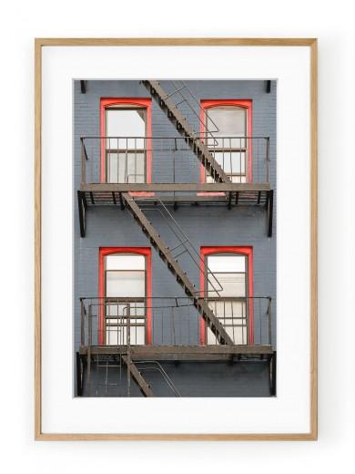 Tablou Façade de Briques New York Oak