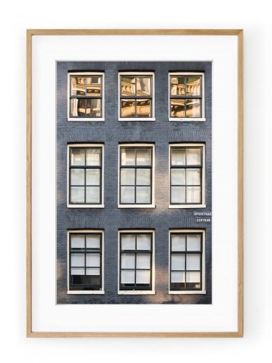 Tablou Façade de Briques Amsterdam Oak