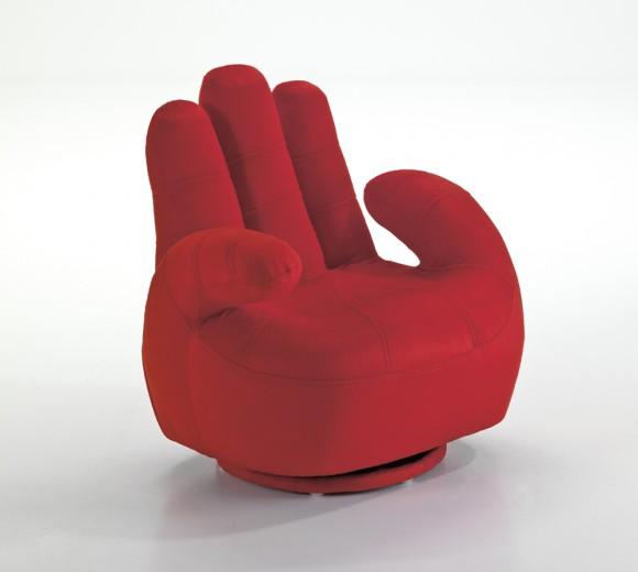 Fotoliu pentru copii Mano Red, l52xA52xH57 cm