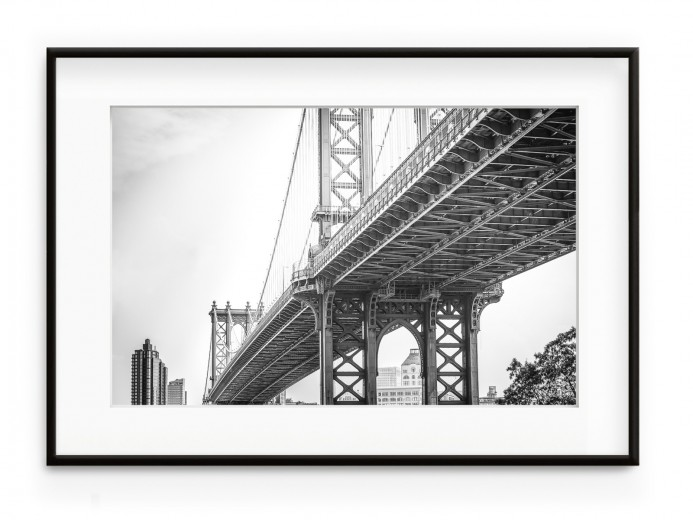Tablou Brooklyn Bridge Aluminium Noir
