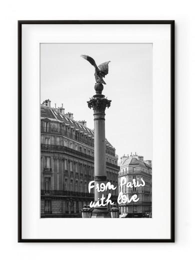 Tablou From Paris with Love Aluminium Noir