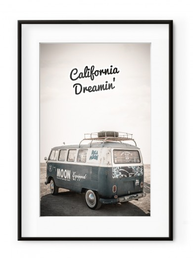 Tablou California Dreamin' Aluminium Noir