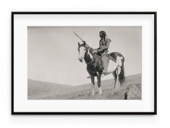 Tablou Native American III Aluminium Noir