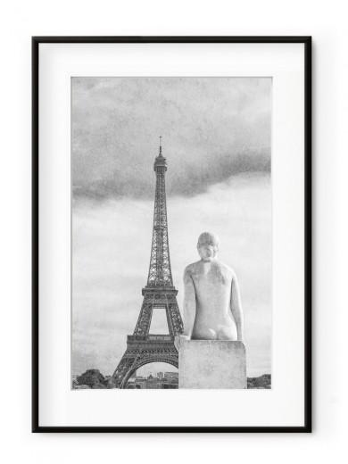 Tablou Sculpture Parisienne La femme Aluminium Noir