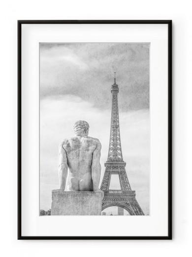 Tablou Sculpture Parisienne L'homme Aluminium Noir