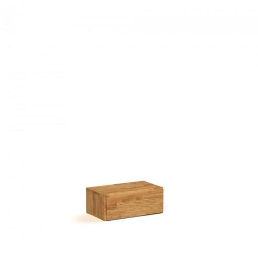 Noptiera din lemn masiv de stejar Seti 3 natural, l50xA31xH20 cm