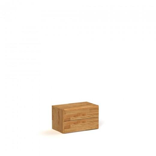 Noptiera din lemn masiv de stejar Seti 4 natural, l50xA31xH30 cm