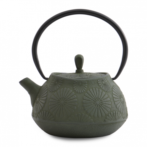 Ceainic de fonta, floral, Green, 1,1 L, Studio Line