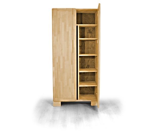 Dulap din lemn masiv de stejar Seti 450 2D, l90xA45xH190 cm