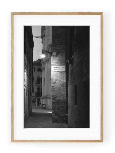 Tablou Venezia di Notte Vaporetto Oak
