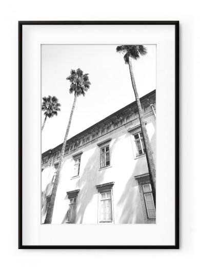 Tablou Architectural Palm Trees Aluminium Noir
