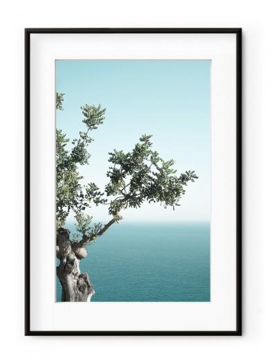 Tablou Seaside Oak Aluminium Noir