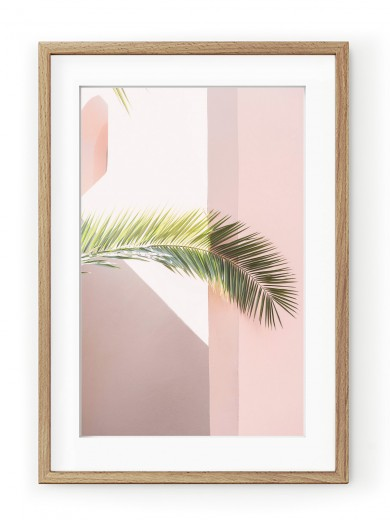 Tablou Pink Palm Oak