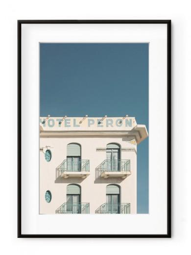 Tablou Hotel Peron Aluminium Noir