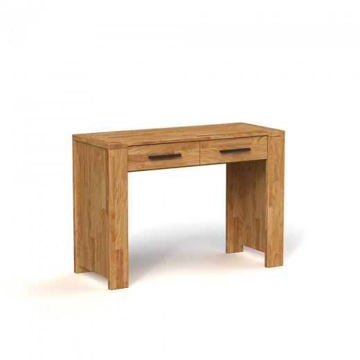 Masa de birou din lemn masiv stejar natural Cubic, L111xl45xh78 cm