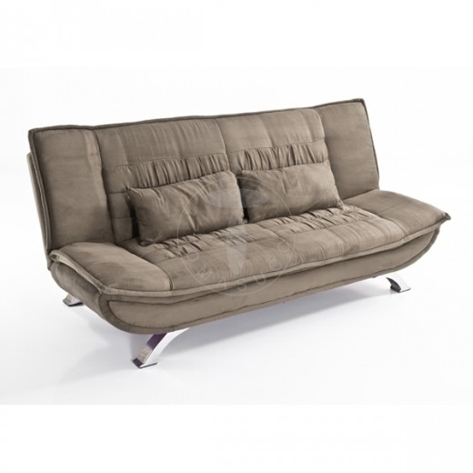 Canapea extensibila tapitata cu stofa, 3 locuri Lola Grey, l196xA96xH90 cm