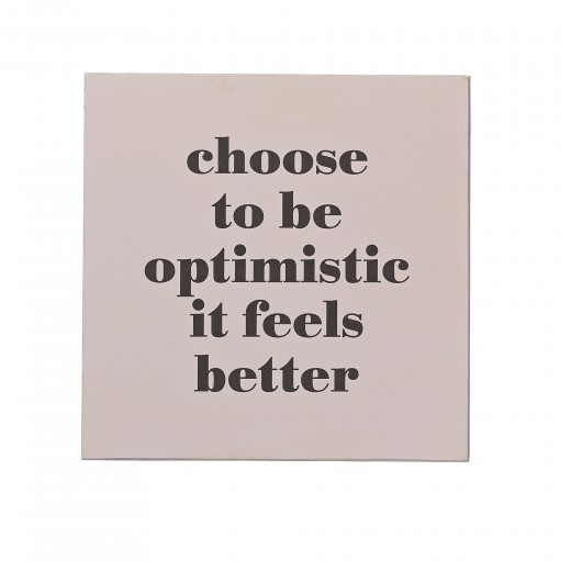 "Mesaj motivational "" Optimistic "" Rose, MDF"