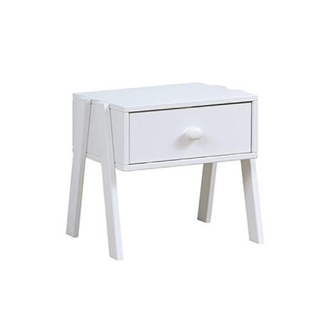 Noptiera din lemn de Pin, Silversparkle, White, l43,5xA40xH42 cm