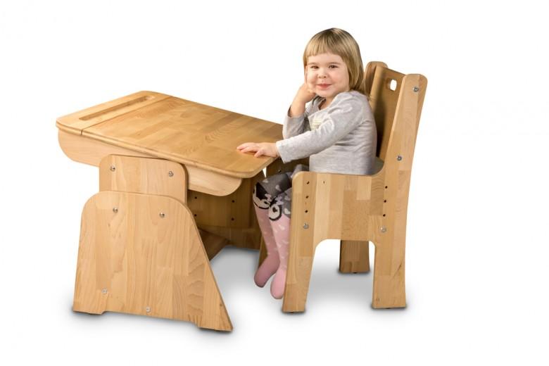 Masa de birou din lemn de fag, Ecodesk, L70xl55h46 cm
