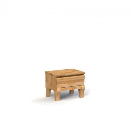 Noptiera din lemn masiv de stejar Bona natural, l50xA38xH40 cm