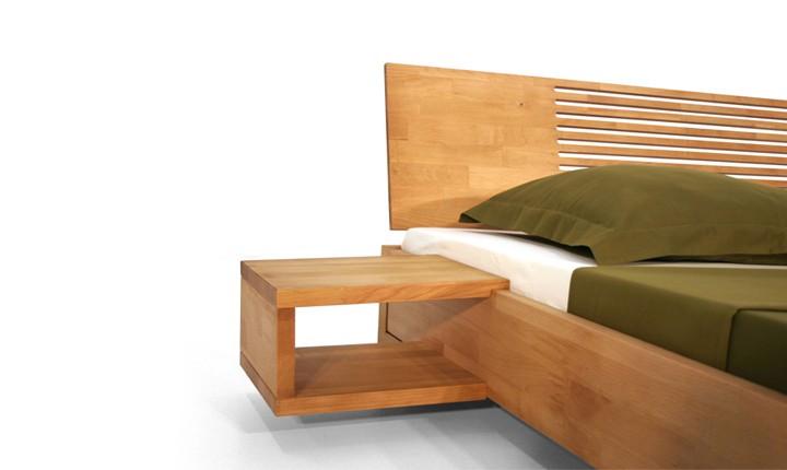 Noptiera Vento A natural din lemn masiv de fag, l35xA30xH17 cm