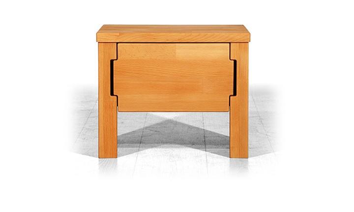 Noptiera din lemn masiv de fag Koli natural, l42xA31xH35 cm