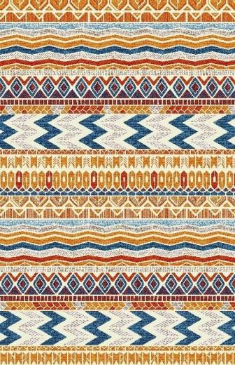 Covor Ethnic Et 020 C Orange, Tesut mecanic-75 x 150 cm