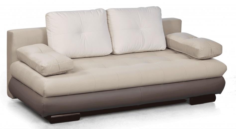 Canapea extensibila tapitata cu stofa, 3 locuri Luore Beige, l210xA98xH74 cm