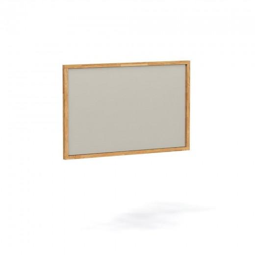 Oglinda decorativa din lemn masiv de stejar natural Minimal, L80xl80 cm