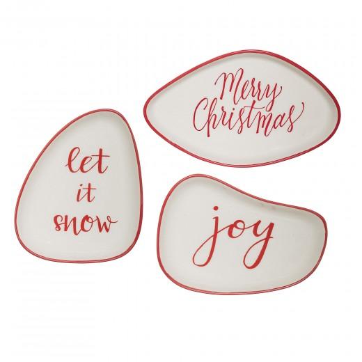 Set 3 Farfurioare Joy Plate, Red