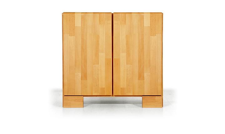 Dulap din lemn masiv de fag Seti 800 2D, l80xA45xH75 cm