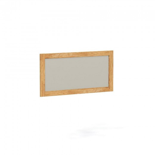 Oglinda decorativa din lemn masiv de stejar natural Steel, L120xl60 cm
