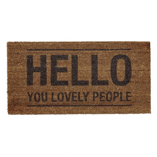 "Pres "" Hello You Lovely People "" Maro, l40xL80xH1,5 cm"