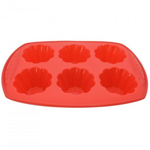 Tava de silicon pentru savarine 30 x 20 cm, Red, Dainty